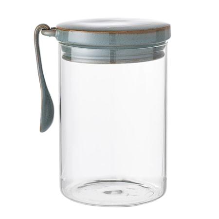 Glas mit Deckel/Löffel Pixie Ø12xH17 cm