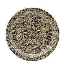 Papir tallerken, Floral, 12 stk/pak ,h: 2.5 cm, dia: 23 cm