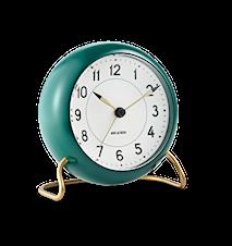 Arne Jacobsen Station bordur, grøn/hvid, Ø 11 cm, alarmfunktion