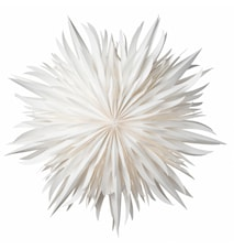 Glødende Papirstjerne Hvid 52 cm