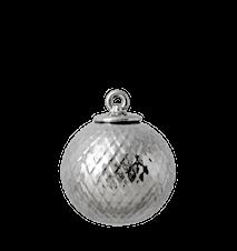 Rhombe Dekorasjonskule Ø7 cm Sølv Porselen