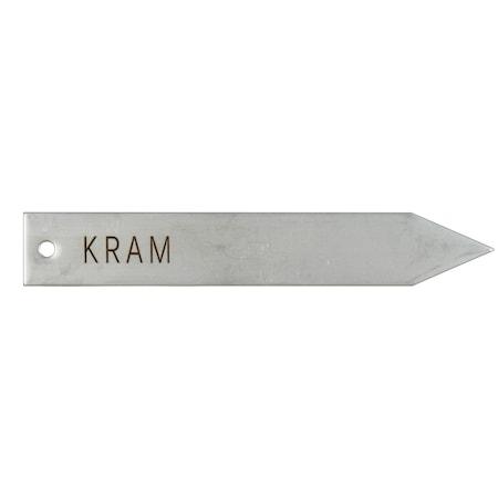 """Pflanzenschild """"Kram"""" Rostfrei"""