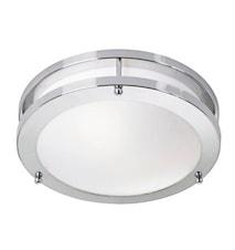 Täby LED Plafond Krom/Vit