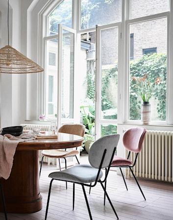 Køkkenstol Fløjl Grå