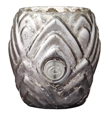 Lanterne pour bougie chauffe-plat Dalia 7,5 cm beige