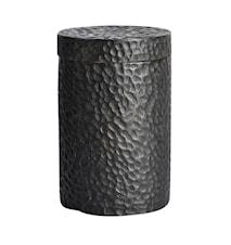 Carved Kruka Svart Ny teak 15x10 cm
