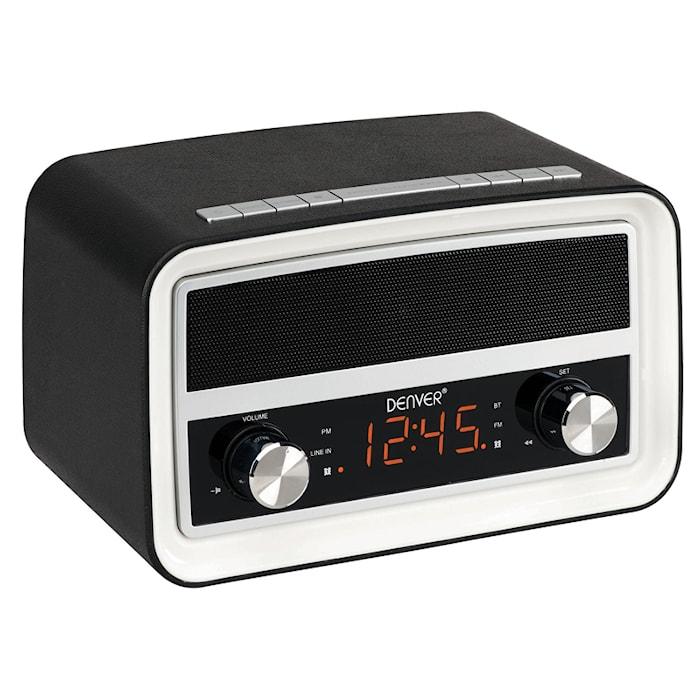 Denver Radio m. bluetooth og ur