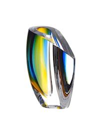 Mirage Blå/Rav Vase 15,5 cm