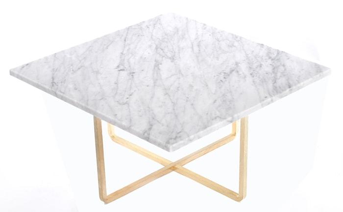 Ninety soffbord - Carrara/mässingsstomme