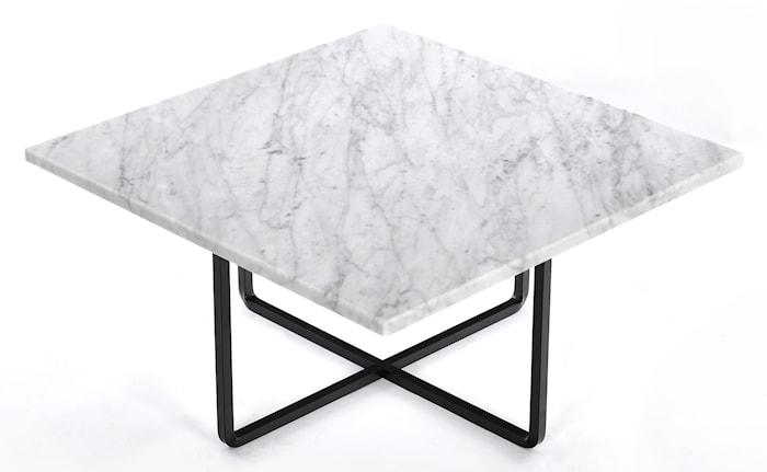 Ninety sofabord - Carrara/svartlakkert metallstomme