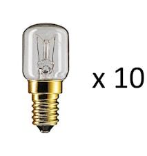 Fashion Køleskabslampe E14 15W 10stk 2p