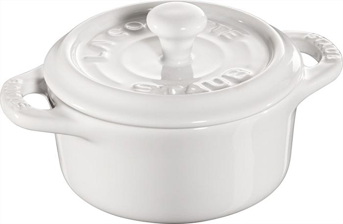 Pyöreä minipata 10 cm valkoinen 0,2 L