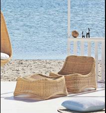 Chill fåtölj & fotpall loungeset För utomhusbruk