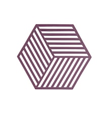 Hexagon Grytunderlägg Beetroot