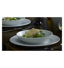 Plissé salat-/pastatallerken 20 cm