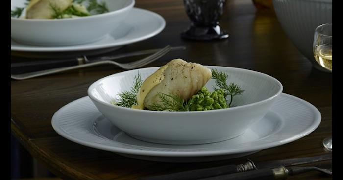 Plissé Salat/Nudelteller 20 cm Weiß