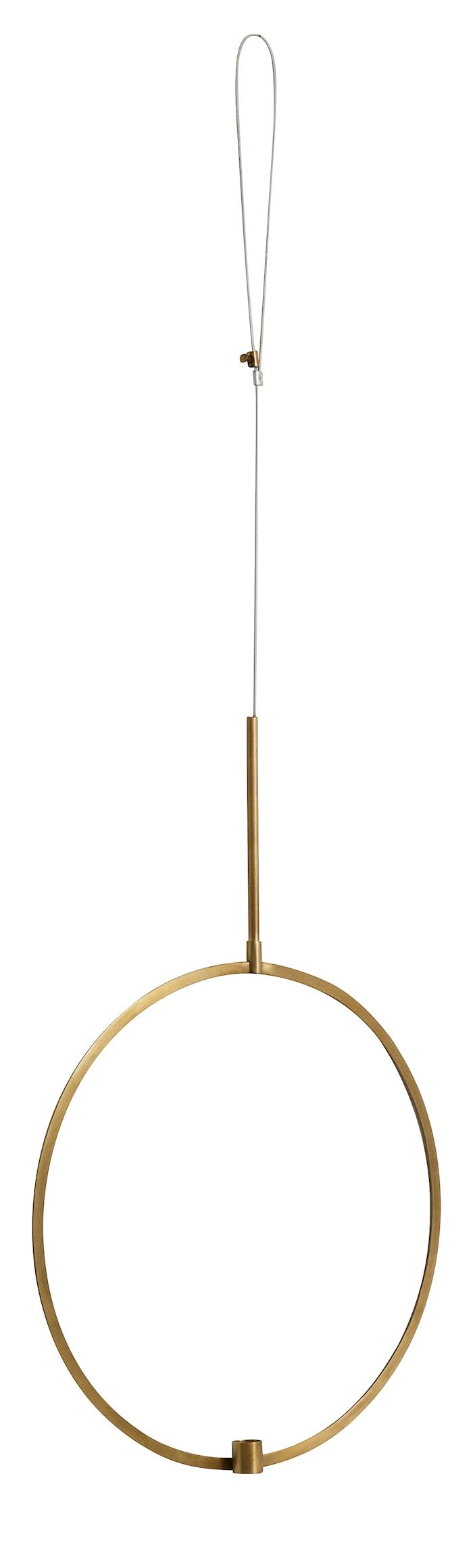 lysestake sirkel til oppheng Ø 42 cm - messing
