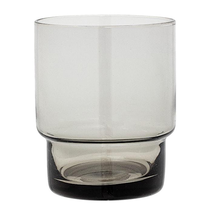 Ljuslykta Grå Glas 7x8,5 cm
