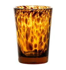 Ljuslykta Glas Brun 8,5x13 cm