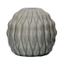 Vase Blå Mønster Stentøj 15x15cm