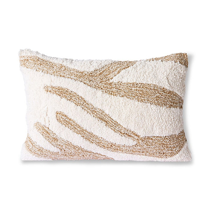 Fluffy Kudde White/Beige 35x55 cm