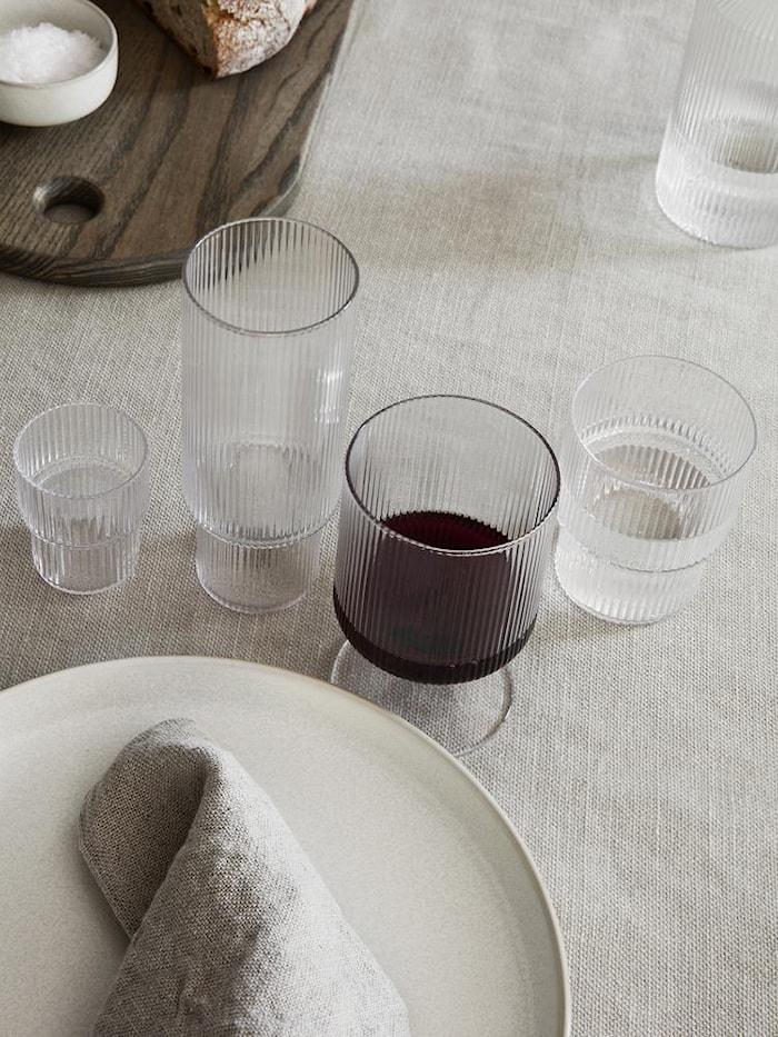 Ripple Små Glas 4-pack Klar