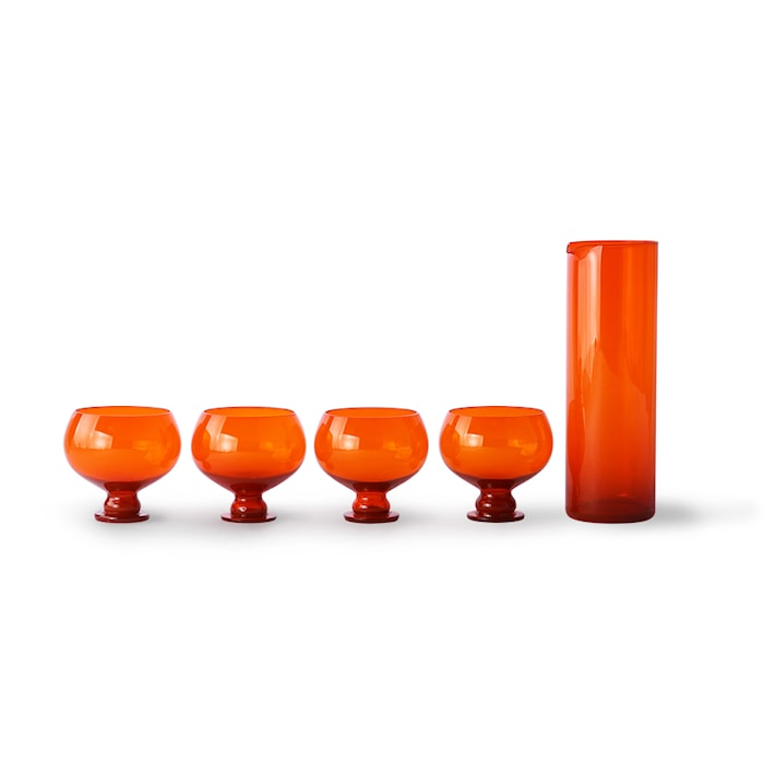 Funky Orange Glass sett