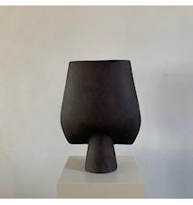 Sphere Kvadratisk Vase Stor Brun