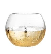 Lou Värmeljushållare Guld/Glas