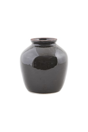 Vas Shine Ø 12x14cm Svart