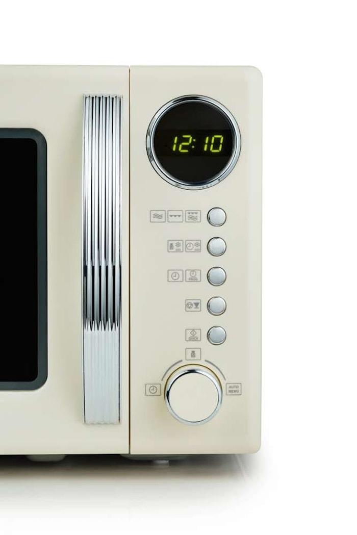 Four à micro-ondes Retro 700W blanc ivoire