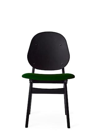 Noble Stol Dark Green Svartlackad Bok