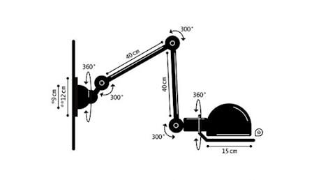 Loft D4401 Vägglampa 40+40x15cm utan brytare
