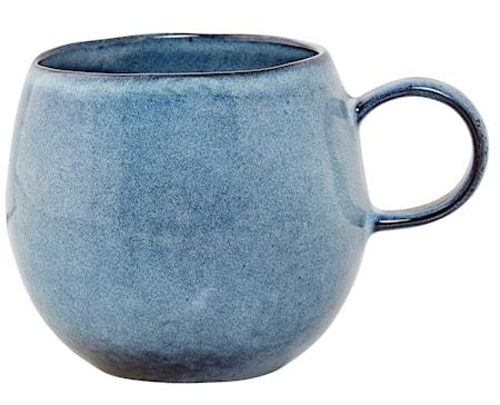 Kopp Blå Steintøy 10,5x9,5 cm