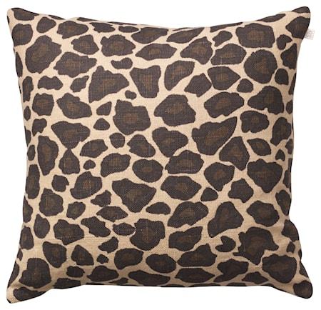 Leopard Kuddfodral Linne Beige/Brun 50x50 cm