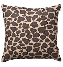 Leopard Kudde Linne Beige/Brun 50x50 cm