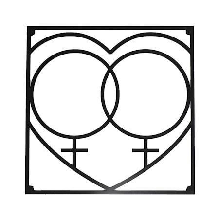 Love collection Grytunderlägg QQ Love 18 x 18 cm Svart