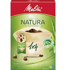 Natura 1x4 Kaffefilter 80-pack