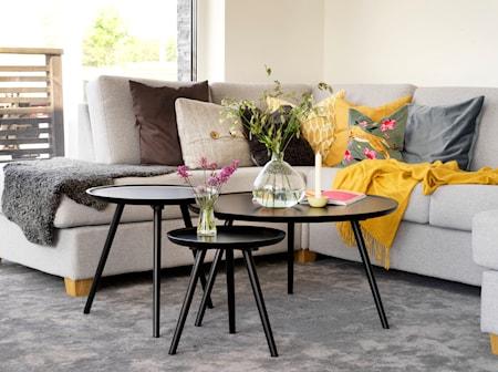 Daisy Sofabord rundt svart 55 cm