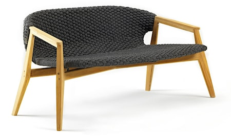 Knit 2-pers. sofa - Sort mahogny