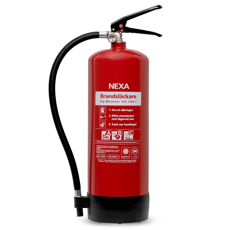 Brandsläckare Röd 6kg 55A