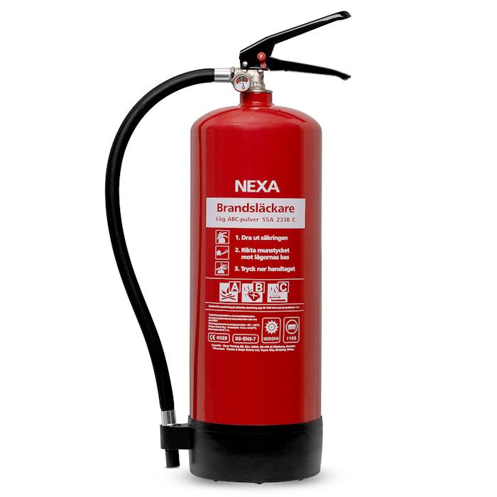 Nexa Fire & Safety Brandsläckare Röd 6kg 55A