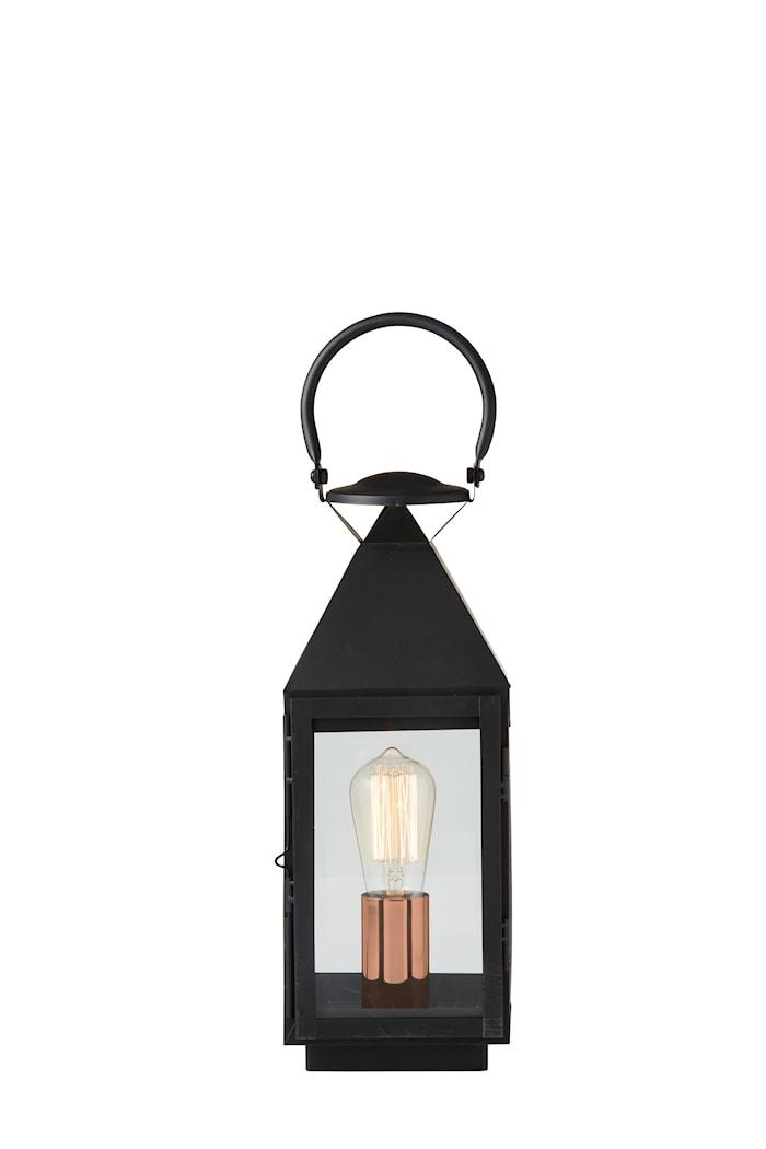 Veneto lyktlampa H42 Svart med strömbrytare