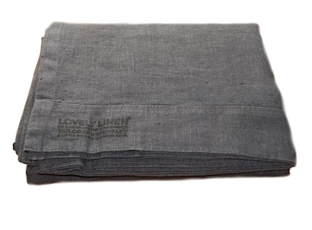 Lovely linen påslakan Dark grey