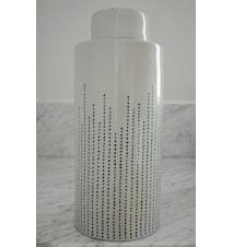 Dribble keramikburk – Indigo, large