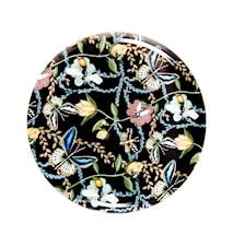 Nadja Wedin Design Bricka 65 cm Bugs & Butterflies Svart