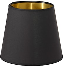 Cia Lampunvarjostin Musta/Kulta 20cm