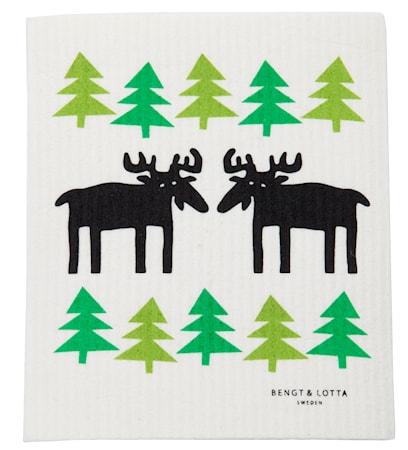 Moose in the forest vaskeklut