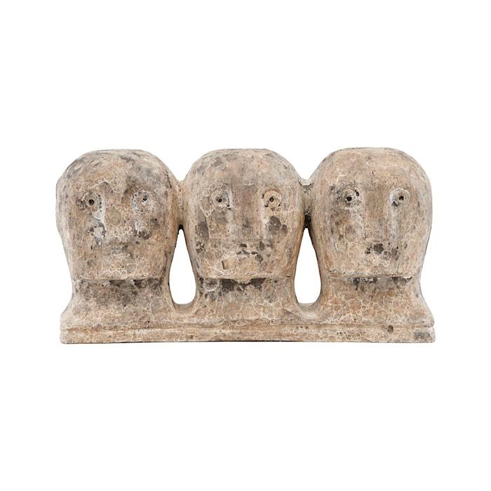 Kunstværk Ancient Head Grå/Brun
