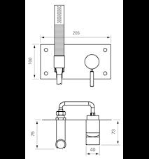 BOX011-364 Duschblandare för inbyggnad Mässing